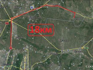 Vind loc de casa 11.5 ari cu titlu privat pentru constructii 18km de la chisinau 5km de vadluvoda