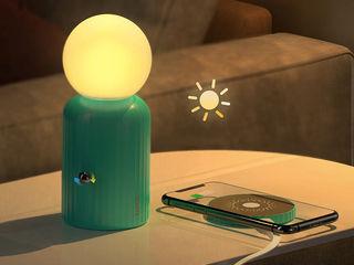 Incarcator fara fir Hoco H8 Jewel + Lampă de noapte [Green]