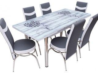 Set MG-Plus Kelebek Twin Crom (6 scaune) livrarea gratuită!