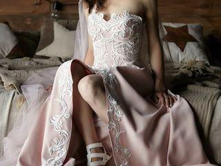 Пудровый цвет-новые свадебные платья