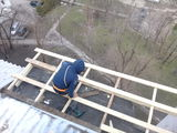 Ремонт крыша балкона из  профнастила 322+утепление крыши пенопласто!!!