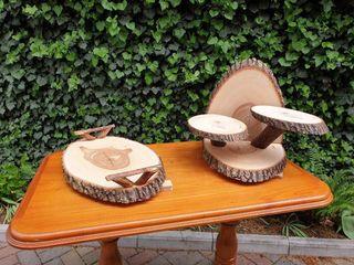 Suporturi pentru flori,decoruri din lemn natural