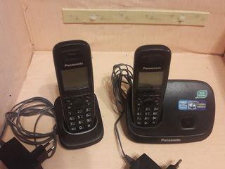 Телефон  panasonic с мобильными 2 трубками