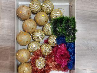 Декорации для ёлки шары новогодние игрушки