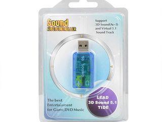 Виртуальная звуковая карта 5,1 3D энтернал USB аудио контроллер USB 2,0 до 3,5 мм разъем для наушник