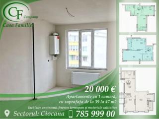 Apartament cu o odaie 570€/m2.Casa data in exploatare
