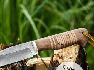 """Нож """"Бивень""""  дамасская сталь"""
