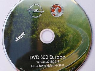GPS DVD Navigatie Opel DVD800 MY2011 Europa - 2017/2018