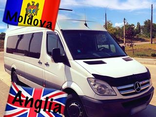 Transport Anglia-Moldova (pasagri+colete+auto pe platforma