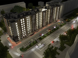Alba Iulia Residence, buiucani, ap. cu 1 odaie, 43,35 m2,  preț de la 600€/m2 !!!
