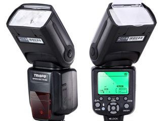 60 евро - новая вспышка Triopo TR-988 для Canon E-TTL и HSS или Nikon c i-TTL и HSS !