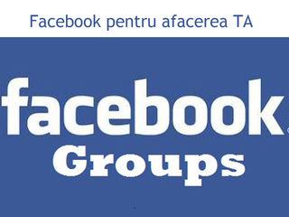 Facebook pentru afacerea TA promovarea in cele mai populare grupe