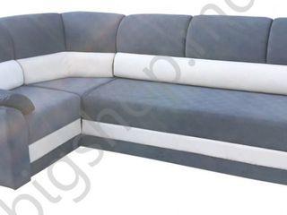 Canapea de colt V-Toms V1 (1.5x2.6 m) Grey/White. Posibil în credit!!