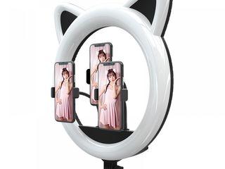 Кольцевая лампа в форме головы кошки Cat Ring Light RK-45+штатив / lampa cu urechiuse +stativ 2.1m