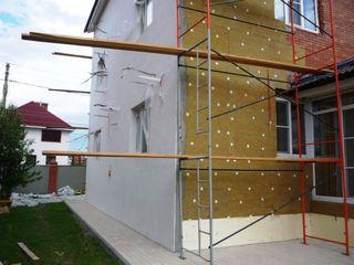 Утепление фасадов пенопластом или минватой,тинк,ник,мраморный пластер