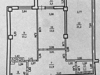 Telecentru, 2 odăi + living, 72 m.p. în varianta albă