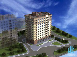 3-комнатная квартира Новострой, 3-ий этаж! Шикарный вид на город! Всего за 24 900 евро !