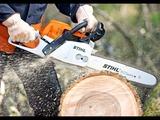 Спилить удалить накренившиеся или треснувшие дерево