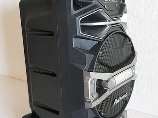 Колонка переносная + микрофон+bluetooth+радио+флешка+Aux. Новая (в коробке). Смотрите видео!