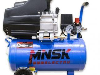 Компрессор 24л minsk electro lab2024/compresor 24l/2.0kw, 200 l/min/garantie/livrare gratuita/2000 l