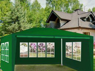 Палатка-павилион 3х4м, зеленая, со стенками (типа торгово-садовая)! абсолютно новая, в упаковке!