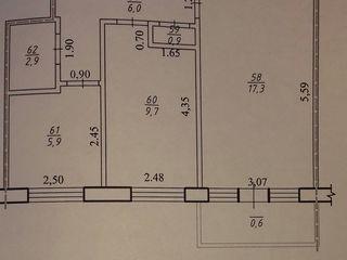 Продаётся 2-х комнатная квартира в г. Костешты (Рышканский р-н)