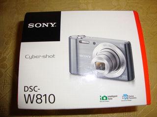 Aparat foto digital, sony dsc-w810, 20,1 mpx, zoom 6x, negru, nou, sigilat, cu toate accesoriile in