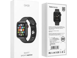 Hoco ga09 smart watch 1:1 apple watch 44mm + încărcător wireless inclus în set + garanție