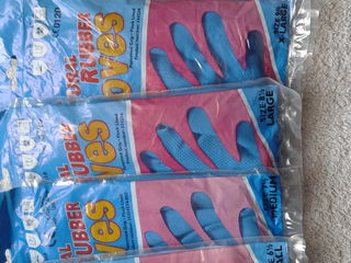 Резиновые перчатки.