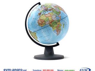 Глобус диаметром   32 см PVC  с политической картой мира синий Gl.32 PVC blue