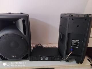 Amplificator Fantom 3200 W cu crosover, Boxe,    la pret de 8600 lei  !!!