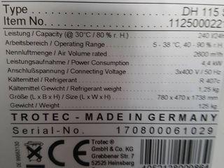 Dezumidificator industrial 300l/24h bun pemtru 1300 m2 (3200m3) de la Trotec Germania (осушитель)