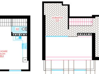 Apartament in 2 nivele cu 2 dormitoare cu reparatie