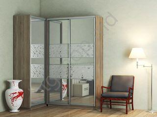 Dulap colt Confort-NV 2D+1 Sablare, oglinda (130x60x100)