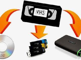 оцифровка видеокассет всех форматов на любой носитель в любом формате и на ДВД диски  перезаписать..