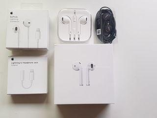 Apple AirPods, Airpods Pro, AKG Samsung earphones, Lightning EarPods, Apple Accessories