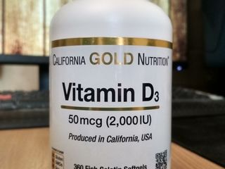 Витамин D3, California Gold Nutrition, 50 мкг (2000 МЕ), 360 рыбно-желатиновых капсул, iHerb.