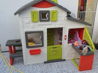 Casuta Smoby Toys cu bucatarie, sonerie si masuta 217x155x172cm