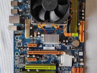 Продаю мат. плату Biostar с процессором,кулером и памятью. 60$