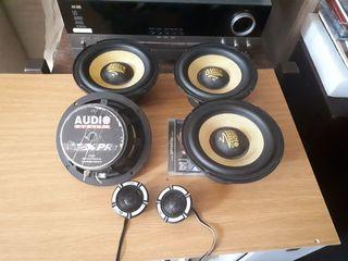 оригинальные динамики 16.5 cm  мощный качественный звук Audio System Helix Empheiser