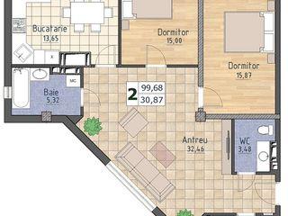 Apartament spatios, 99 m2, 525Euro/m2, Buiucani! Valea Morilor!