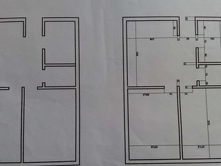 Plan individual,cu 2 camere+electrica(internet)+instalatii sanitare