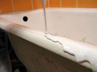 Restaurarea cazilor de baie fontă(Ciugun),metal,acril Ekopel 2k !!! durata  20 ani. реставрация ванн