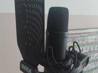 Microfon profesional, вокальный конденсаторный студийный микрофон Rode NT1 KIT