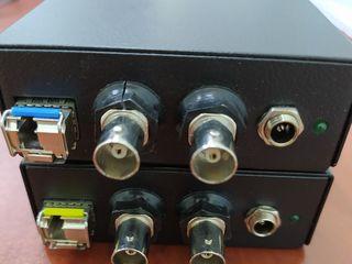 Optical SD SDI transceiver set