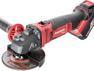 Аккумуляторная машина шлифовальная угловая Raider professional/garantie/promotie