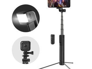 Tripod selfie suporturi lentile lumini blitz pentru telefon