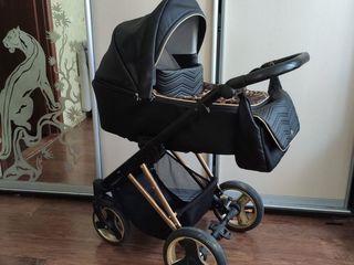 Adamex! гламурная колясочка 2 в 1 эко кожа !