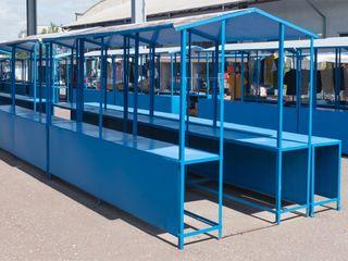 Продаются новые металлические трех метровые двухсторонние столы с навесом для уличной торговли