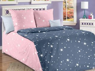 Lenjerie de pat Percale Galaxia (1 pers.). Super preț!!